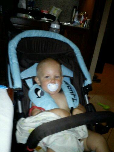Sigge i sin barnvagn